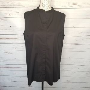 TAHARI Black Sleeveless Carla Top M